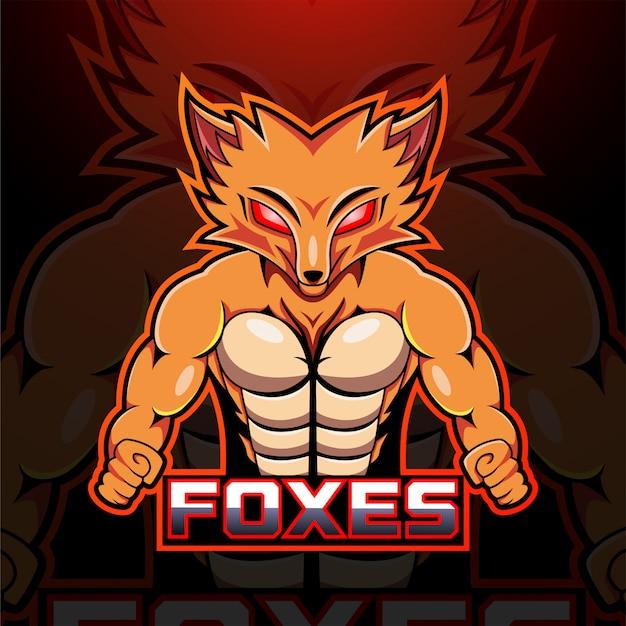 Logotipo de la mascota foxes esport