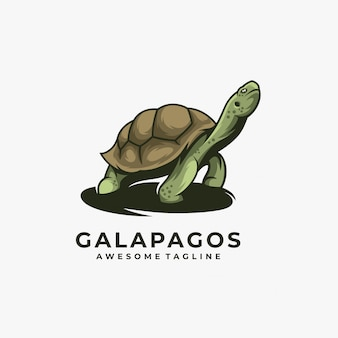 Logotipo de la mascota de galápagos.