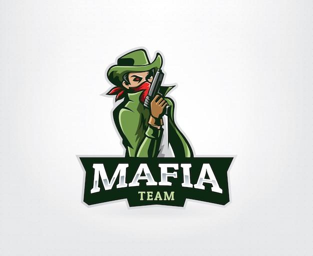 Logotipo de la mascota del gángster