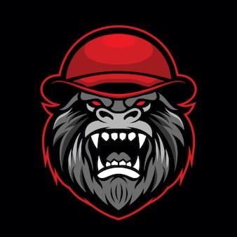 Logotipo de la mascota del gorila