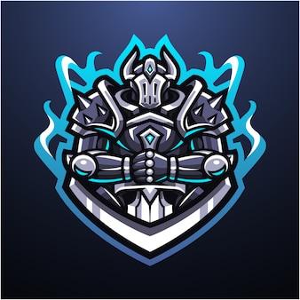 Logotipo de la mascota de guardian knight esport