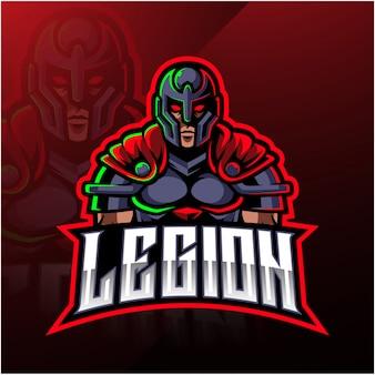 Logotipo de la mascota del guerrero de la legión