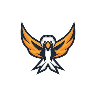 Logotipo de la mascota de head eagle