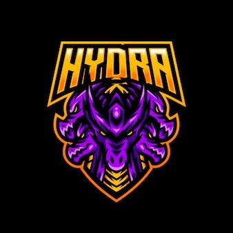 Logotipo de la mascota de hydra esport gaming