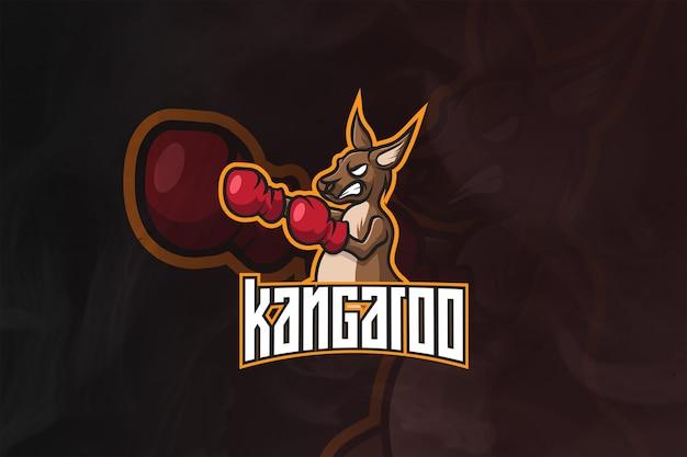 Logotipo y mascota de kangaroo esport
