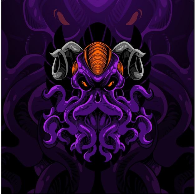 Logotipo de la mascota kraken esport