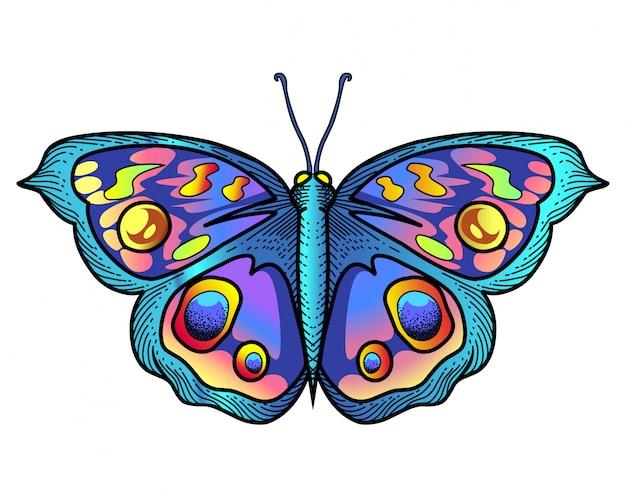 Logotipo de la mascota de la mariposa