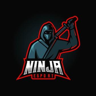 Logotipo de la mascota ninja