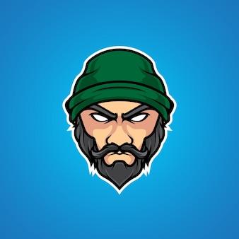 Logotipo de la mascota old man e sport
