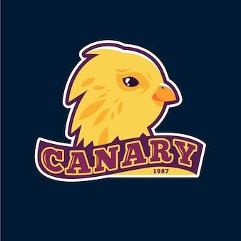 Logotipo de mascota con pájaro