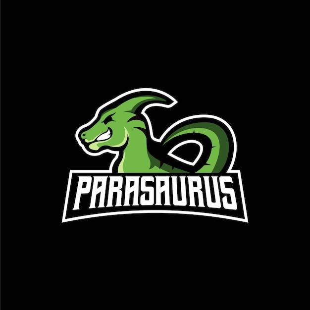Logotipo de la mascota de parasaurus