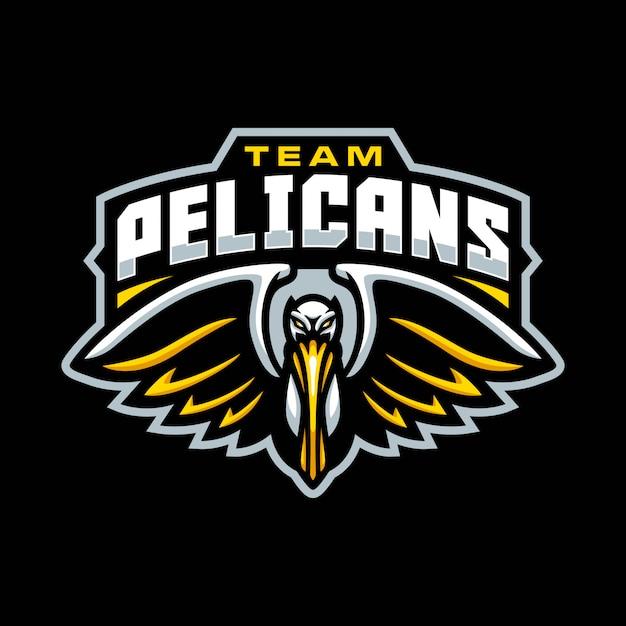 Logotipo de la mascota de pelícanos