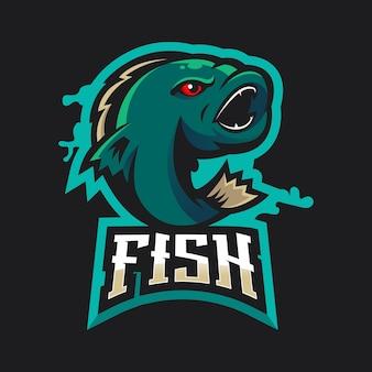 Logotipo de la mascota de pescado