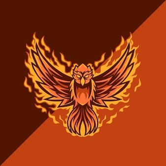 Logotipo de la mascota de phoenix esport