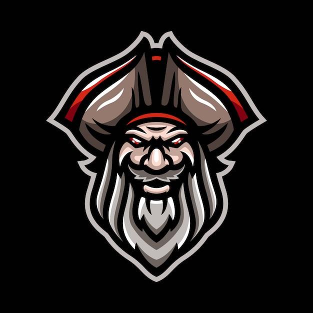 Logotipo de la mascota de piratas