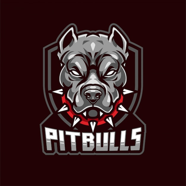 Logotipo de la mascota de pitbull