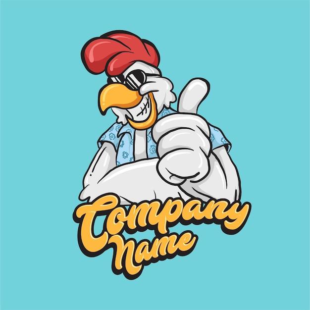 Logotipo de mascota de pollo