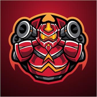 Logotipo de la mascota robot esport