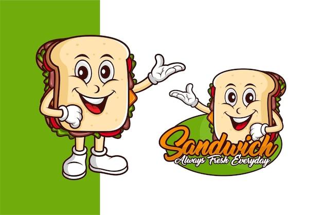 Logotipo de la mascota de sandwich