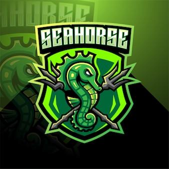 Logotipo de la mascota de seahorse
