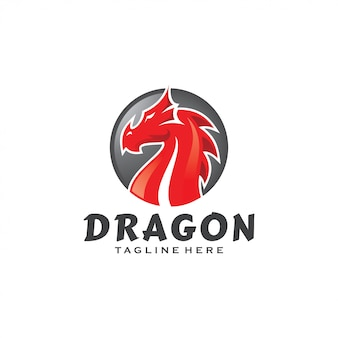 Logotipo de la mascota de la serpiente del monstruo dragón