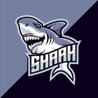 Logotipo de la mascota shark esport