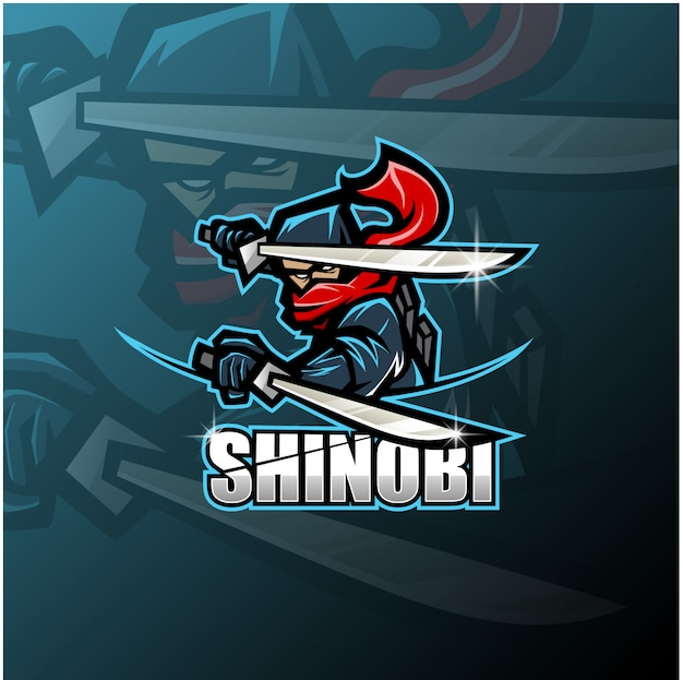 Logotipo de la mascota shinobi esport