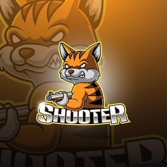 Logotipo de la mascota de shooter esport