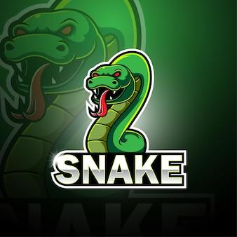 Logotipo de la mascota de snake esport