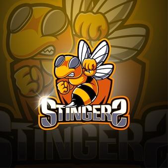 Logotipo de la mascota de stingers esport