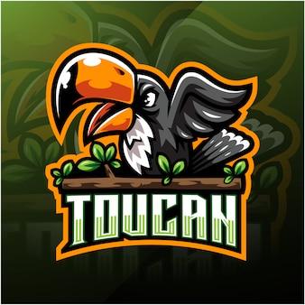Logotipo de la mascota de taucan esport