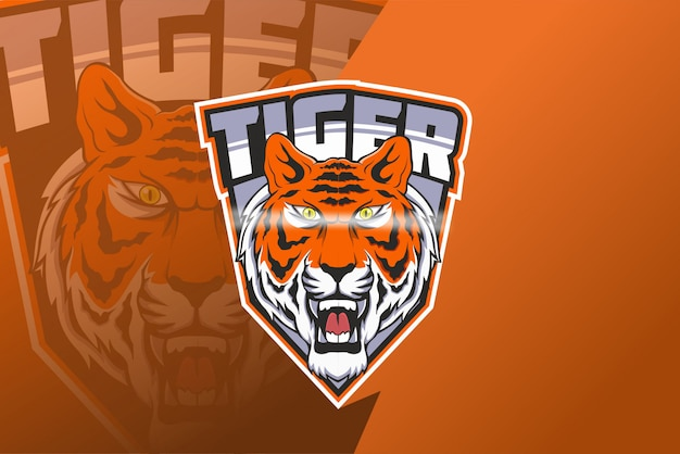 Logotipo de la mascota tiger e sport