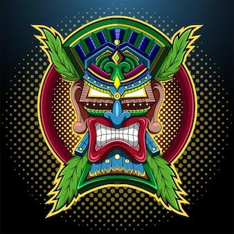 Logotipo de la mascota de tiki mask esport