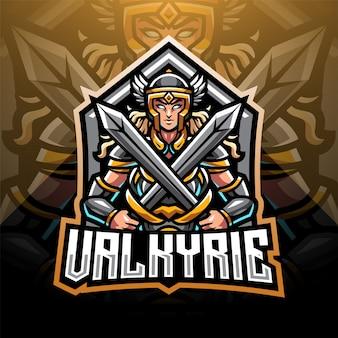 Logotipo de la mascota valkyrie esport