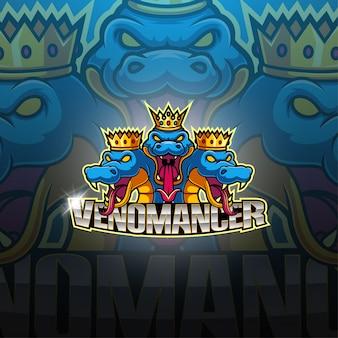 Logotipo de la mascota de venomancer esport