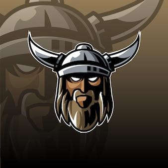 Logotipo de la mascota vikinga