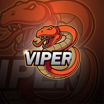 Logotipo de la mascota viper esport