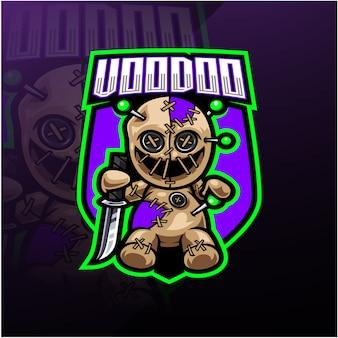 Logotipo de la mascota de vudú esport