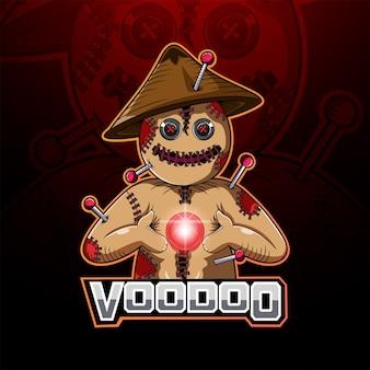 Logotipo de la mascota vudú esport