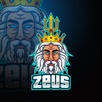 Logotipo de la mascota de zeus esport