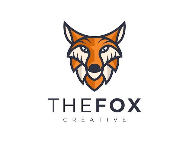 Logotipo de la mascota del zorro emplate