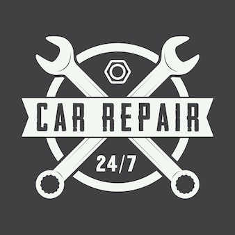Logotipo mecánico vintage