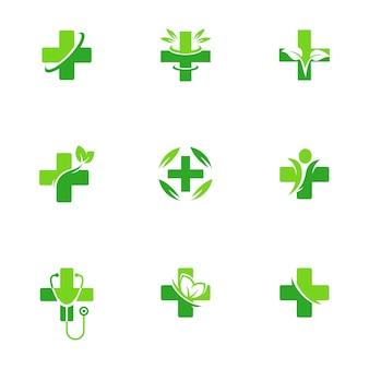 Logotipo de la medicina de farmacia de salud