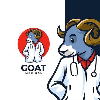 Logotipo médico de cabra