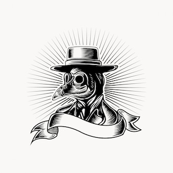 Logotipo de médico de peste