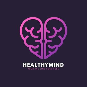 Logotipo de mente sana degradado
