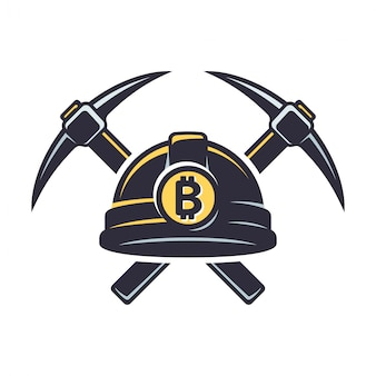 Logotipo de minería de bitcoin