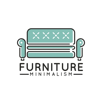 Logotipo minimalista para empresa de muebles.