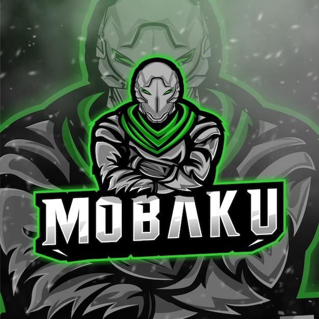 Logotipo de mobaku esport para serpentina y escuadrón de juegos