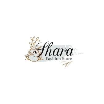 Logotipo de moda ornamental